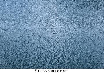 blue víz, lenget, háttér, struktúra