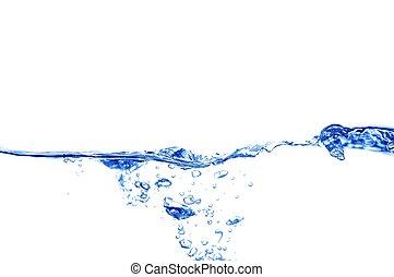 blue víz, világos, lenget