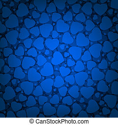 Blue Valentine\'s day background with hearts. EPS 8