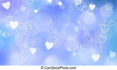 Blue Valentine's Hearts Background.