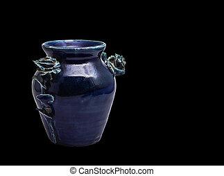 vase on a black background