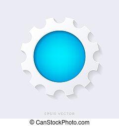 Blue vector 3d web button