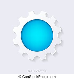 Blue vector 3d web button