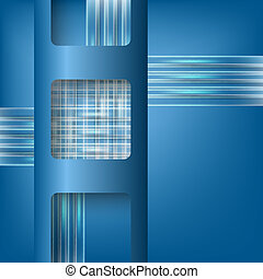 blue vector abstract backdrop and boxes