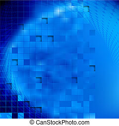 Blue vector abstract background