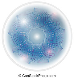 blue vector abstract flower
