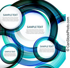 Blue vector abstract swirl banner