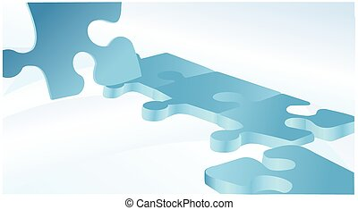 Blue vector background with puzzles.eps