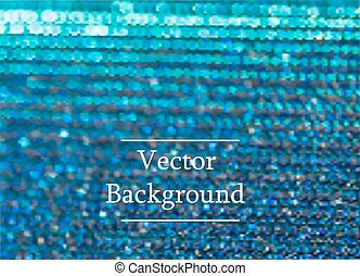 Blue vector background with sparkles and bokeh.