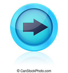 Blue vector button with right arrow