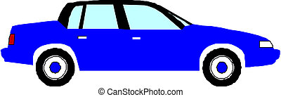 Blue vector car