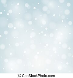 Blue Vector Christmas background with white snowflakes and...