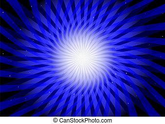 Blue vector circular illustration