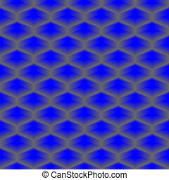 Blue vector cube seamless pattern