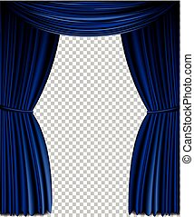 Blue vector curtain
