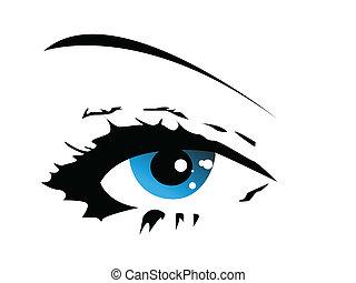 blue vector eye