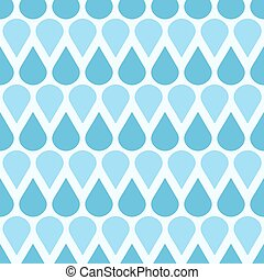 Blue vector falling water drops seamless pattern