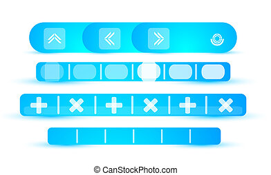 Blue vector header set