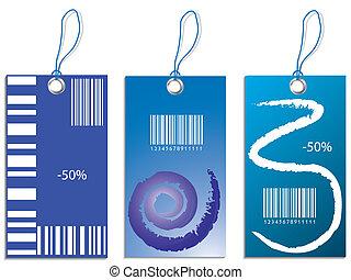 Blue vector illustration of discoun