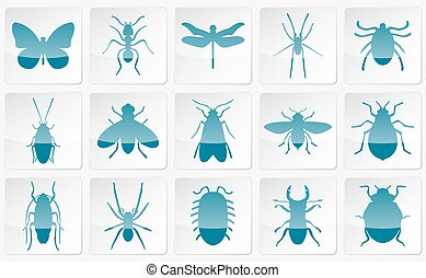 Blue vector insects