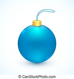 Blue vector isolated Christmas ball