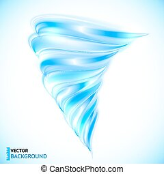 Blue vector isolated tornado - Blue vector shining glossy...