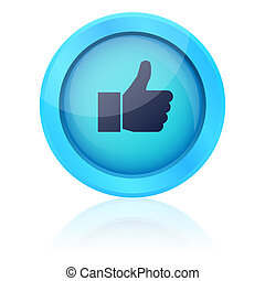 Blue vector like button
