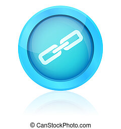 Blue vector link button