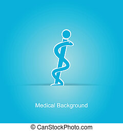 Blue vector medical background