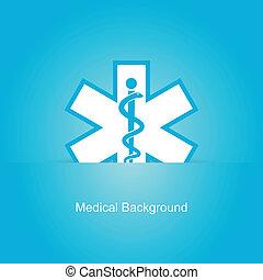 Blue vector medical background