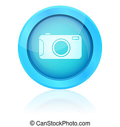 Blue vector photo button