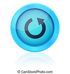 Blue vector repeat button