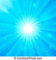 Blue vector shining light background