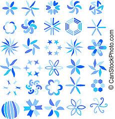 Blue vector symbols