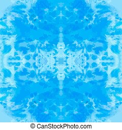 Blue vector watercolor hand-drawn seamless pattern tile