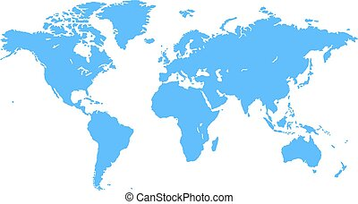 Planet earth showing australia new zealand asia and the stock blue vector world map gumiabroncs Image collections