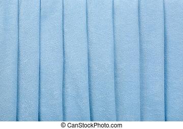 Blue Velvet Parallel Folds Background
