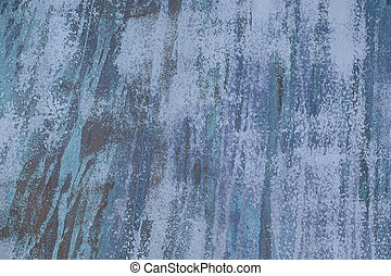 blue vertical paint streak design - close up of faded blue...