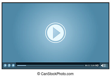 video player - blue video player for web