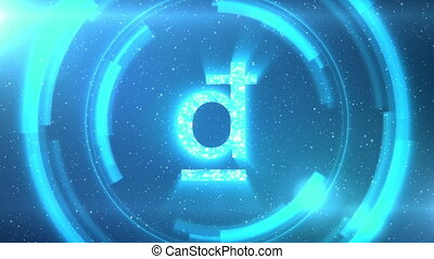 Blue Vietnamese dong currency symbol on space background ...
