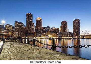 Blue View of Boston