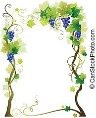 Blue vineyard frame with space for text