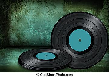 old vinyl disc