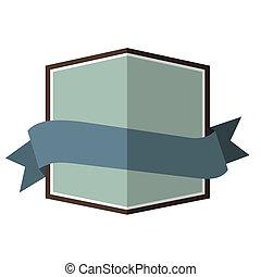 Blue vintage badge
