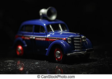Blue vintage car