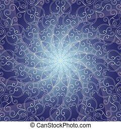 Blue vintage lacy frame