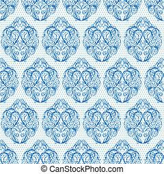 blue vintage seamless pattern