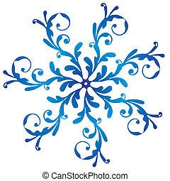 Blue vintage snowflake