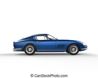 Blue vintage sports car