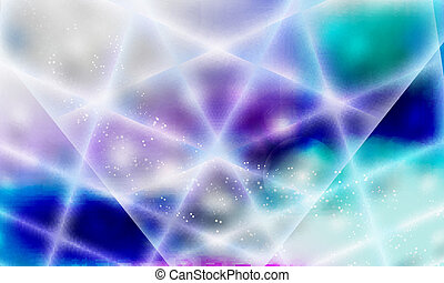 blue, violet and green abstract background and perspective squares